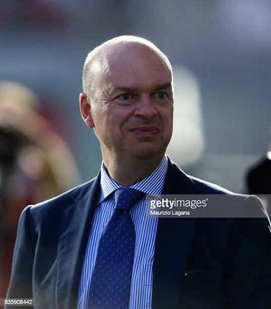 General director of Milan Marco Fassone during the Serie A match between FC Crotone and AC Milan on August 20 2017 in Crotone Italy