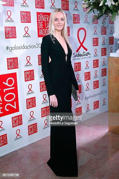 General Director of Mugler Virginie CourtinClarins attends the Sidaction Gala Dinner 2016 as part of Paris Fashion Week Held at Pavillon...