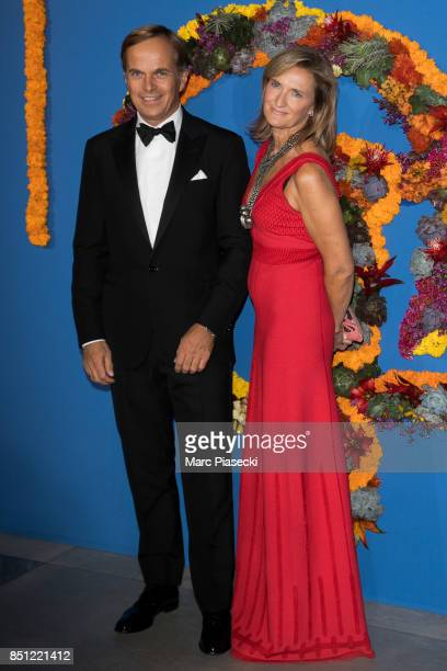 General Director of Rolex JeanFrederic Dufour and Director of External Relations Rolex France France Kamm at Opera Garnier on September 21 2017 in...