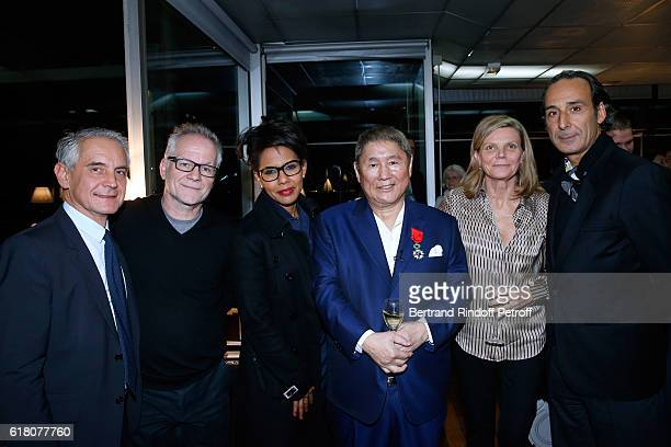 General Director of the Cartier Foundation Herve Chandes General Delegate of the Cannes Film Festival Thierry Fremaux Journalist Audrey Pulvar...