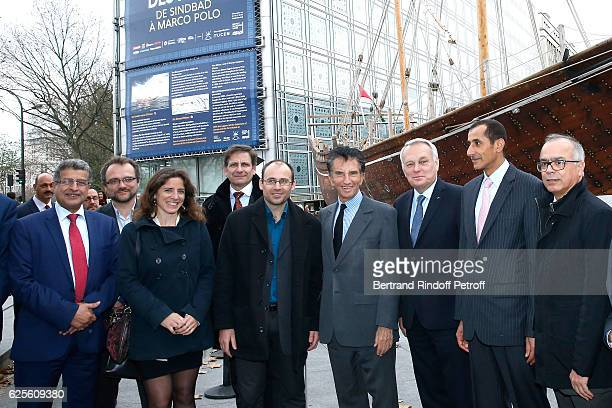 General Director of the 'Institut du Monde Arabe' Mojeb AlZahrani owners of the Boat Jocelyn Pierre and his wife Helene President of the 'Institut du...