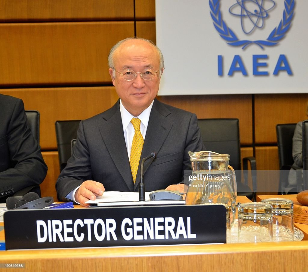 General Director of the International Atomic Energy Agency (IAEA) <a gi-track='captionPersonalityLinkClicked' href=/galleries/search?phrase=Yukiya+Amano&family=editorial&specificpeople=771232 ng-click='$event.stopPropagation()'>Yukiya Amano</a> is seen during the IAEA's meeting of the board of directors at the UN headquarters in Vienna, Austria on December 11, 2014.