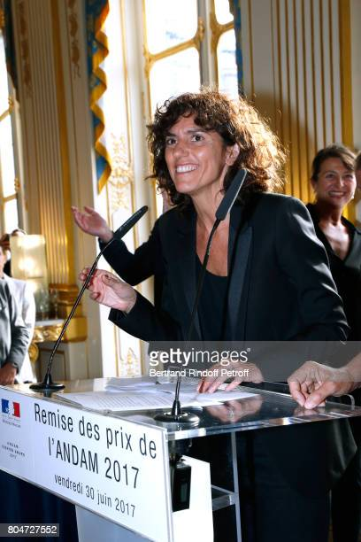 General Director of 'Yves Saint Laurent' Francesca Bellettini attends the ANDAM 2017 Prize Winner Cocktail at Ministere de la Culture on June 30 2017...