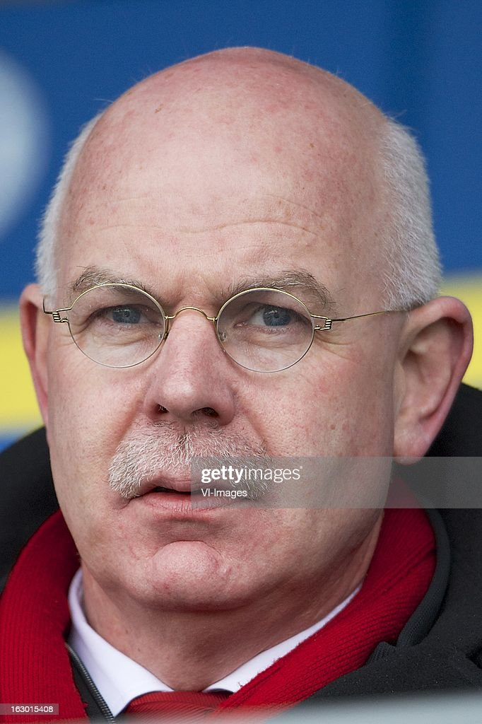 general director Toon Gerbrands of AZ during the Dutch Eredivisie match between RKC Waalwijk and AZ Alkmaar at the Mandemakers Stadiumon march 03, 2013 in Waalwijk, The Netherlands