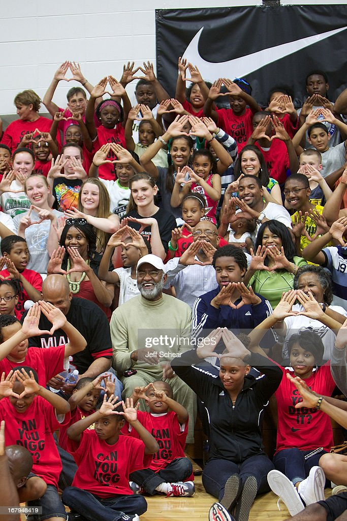 A general display of The Roc Nation Symbol at 'The Martin Luther King Center offers congratulations to Skylar Diggins as she heads to Oklahoma Tulsa Shock' at Martin Luther King Center Gymnasium on May 2, 2013 in South Bend, Indiana.