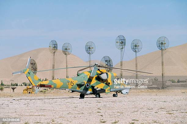 General Dostum's military helicopter in Herat Province