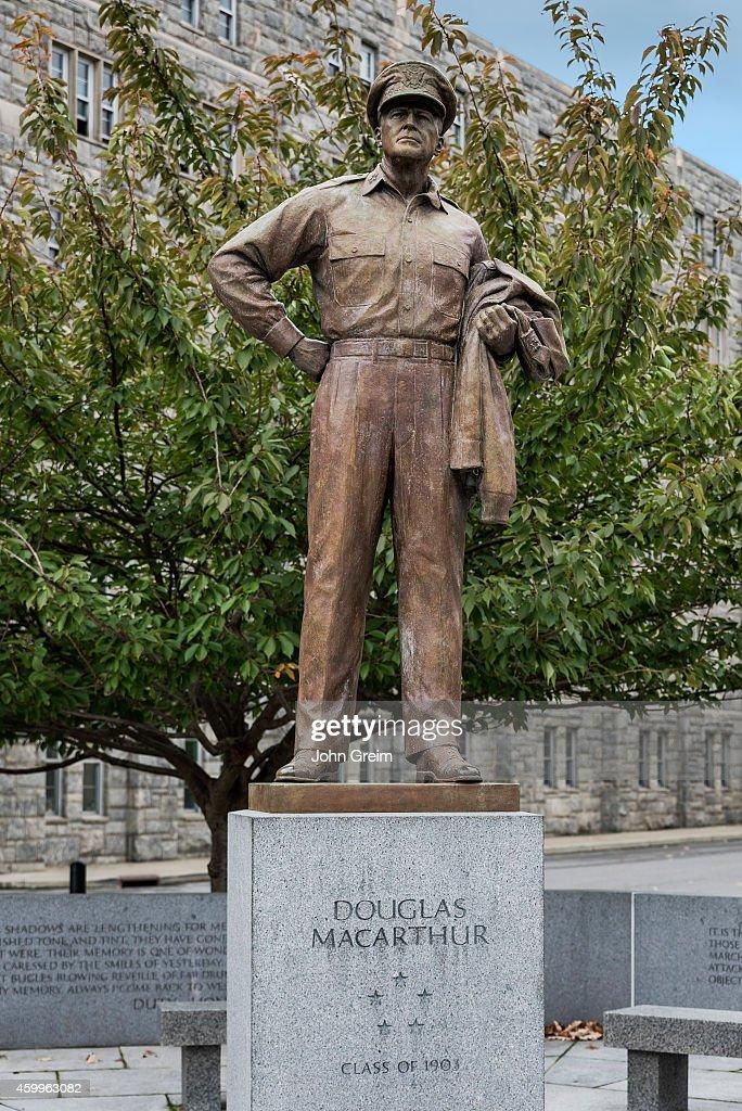 General Douglas McArthur sculpture West Point Military Academy campus