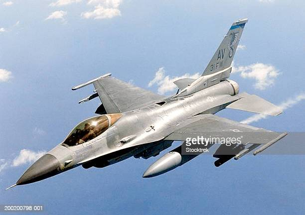 General Dynamics F-16 Falcon in flight during combat mission
