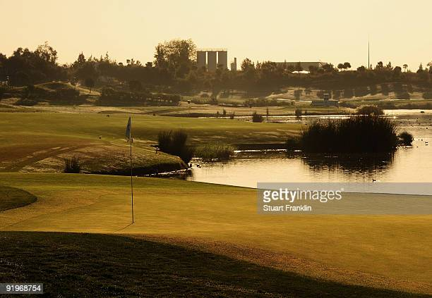 A general early morning view of the 11th hole during the third round of the Portugal Masters at the Oceanico Victoria Golf Course on October 17 2009...