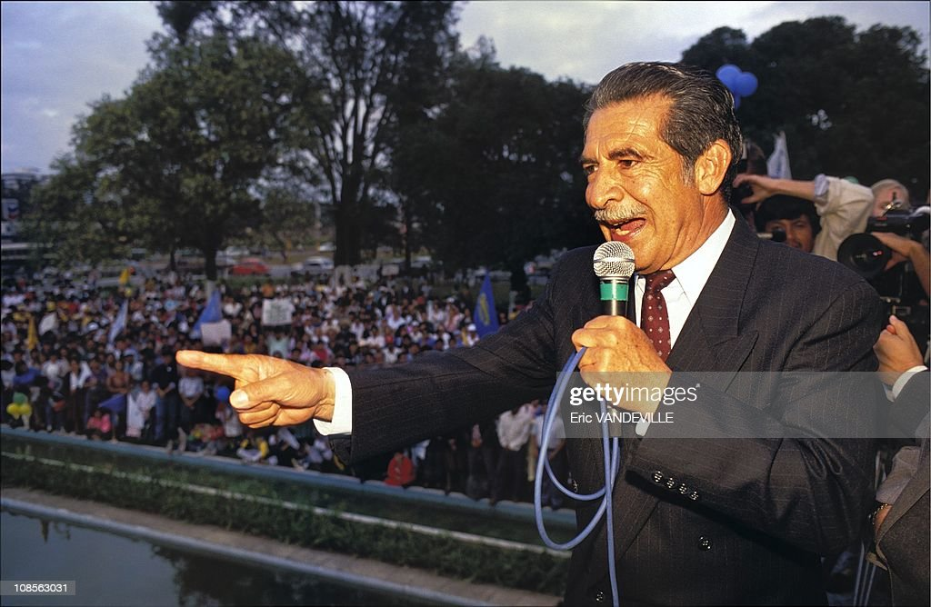 General Efrain Rios Montt in Guatemala in November, 1990.