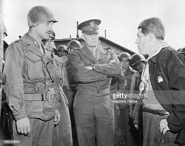 General Eisenhower And First Lieutenant Alois J Liethen At Ohredruf Camp In 1945