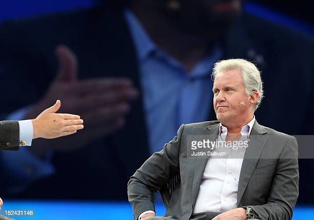 General Electric CEO Jeff Immelt looks on as he participates in a panel discussion during the Dreamforce 2012 conference at the Moscone Center on...