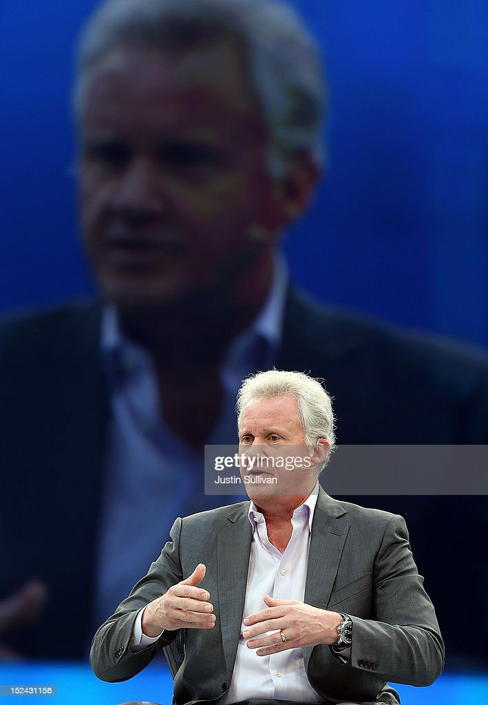 General Electric CEO Jeff Immelt speaks during the Dreamforce 2012 conference at the Moscone Center on September 20, 2012 in San Francisco, California. A reported 90,000 people registered to attend the cloud computing industry conference Dreamforce 2012 that runs through September 21.