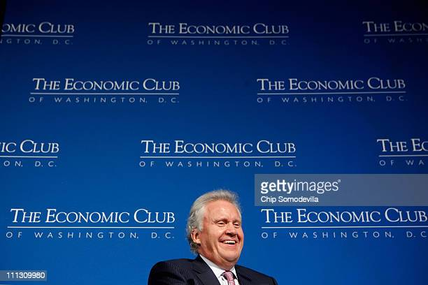 General Electric Chairman and CEO Jeffrey Immelt addresses The Economic Club of Washington during a club luncheon at the Mandarin Oriental Hotel...