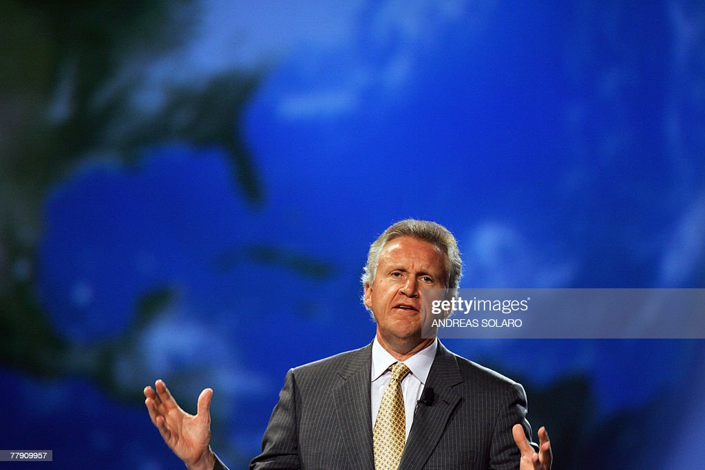 General Electric Chairman and Chief Executive Officer Jeffrey R Immelt speaks 14 November 2007 during the 20th World Energy Congress in Rome With...