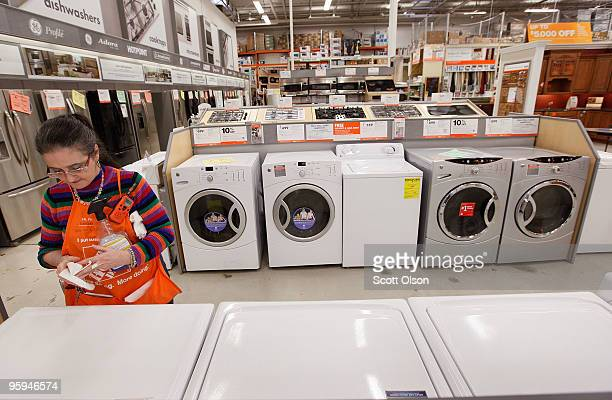 General Electric Co clothes washers and dryers are offered for sale at a Home Depot store January 22 2010 in Chicago Illinois Today GE posted a 19%...