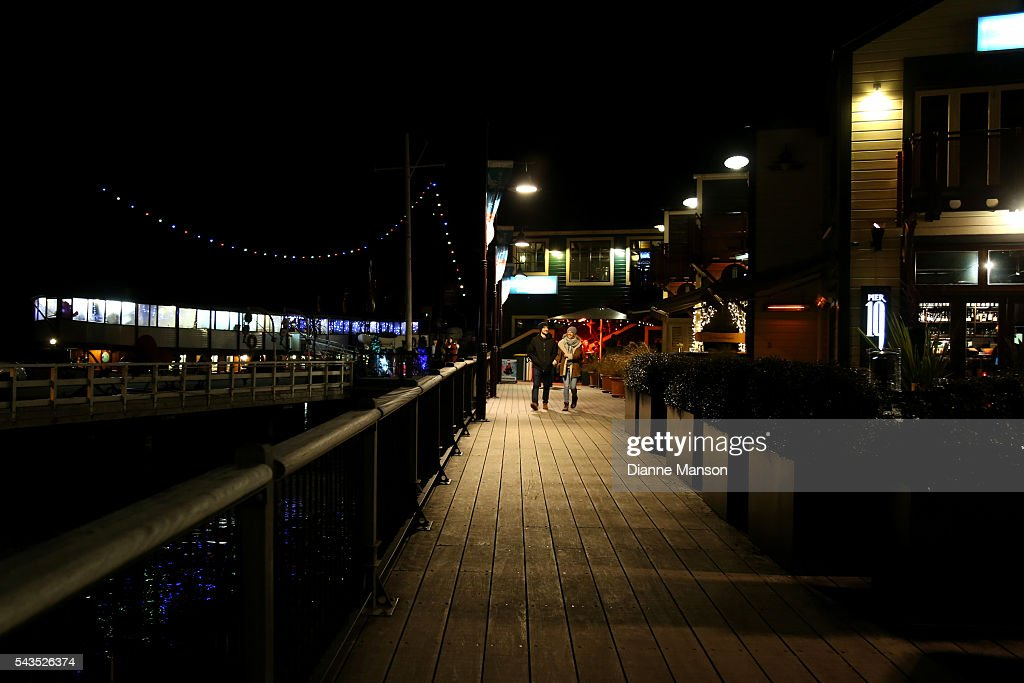 A general evening view of the TSS Earnslaw Steamer wharf during the Queenstown Winter Festival on June 29, 2016 in Queenstown, New Zealand.