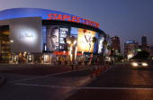 A general exterior view after Game Four of the 2008 NBA Finals on June 12 2008 at the Staples Center in Los Angeles California NOTE TO USERUser...