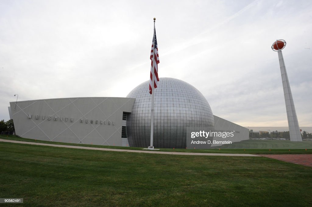 A general exterior view of Naismith Memorial Basketball Hall of Fame on September 10 2009 in Springfield Massachusetts NOTE TO USER User expressly...