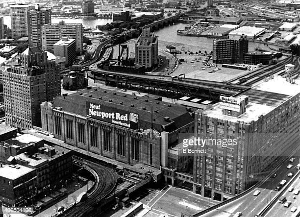 General exterior view of the Boston Garden circa 1960's in Boston Massachusetts