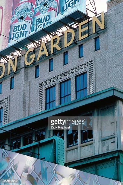 A general exterior view of the Boston Garden home of the Boston Celtics during the 1985 NBA season circa 1985 in Boston Massachusetts NOTE TO USER...