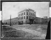 General exterior view of the first Madison Square Garden circa 18791890 in New York New York