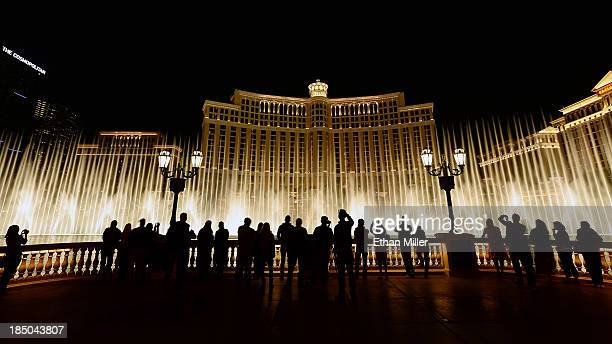 A general exterior view of The Fountains of Bellagio on October 16 2013 in Las Vegas Nevada