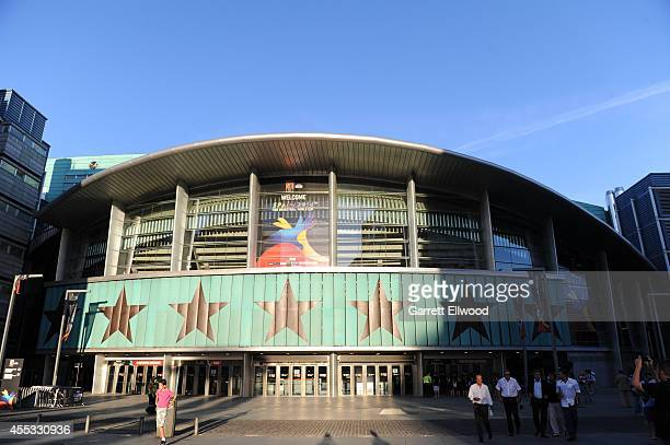A general exterior view of the France National Team against the Serbia National Team at Palacio de Deportes on September 12 2014 in Madrid Spain NOTE...