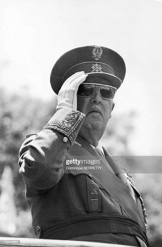 General <a gi-track='captionPersonalityLinkClicked' href=/galleries/search?phrase=Francisco+Franco&family=editorial&specificpeople=190209 ng-click='$event.stopPropagation()'>Francisco Franco</a> Bahamonde in Madrid, Spain in 1967.