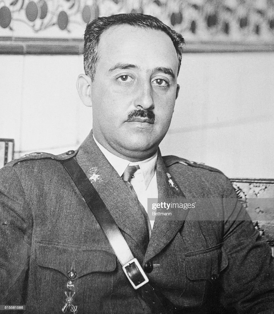 General <a gi-track='captionPersonalityLinkClicked' href=/galleries/search?phrase=Francisco+Franco&family=editorial&specificpeople=190209 ng-click='$event.stopPropagation()'>Francisco Franco</a>, rebel leader of the latest uprising in Spain. According to reports only the city of Madrid is militantly opposing the revolution.