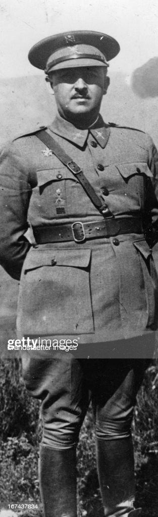 General Francisco Franco. Spain. Photograph. About1930. (Photo by Imagno/Getty Images) General Francisco Franco. Spanien. Photographie. Um 1930.