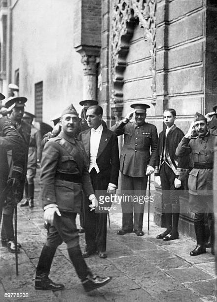 General Franco on the way to his headquarters in Sevilla where he welcame 400 pilgrims from Morocco Sevilla Spain Photograph 1937