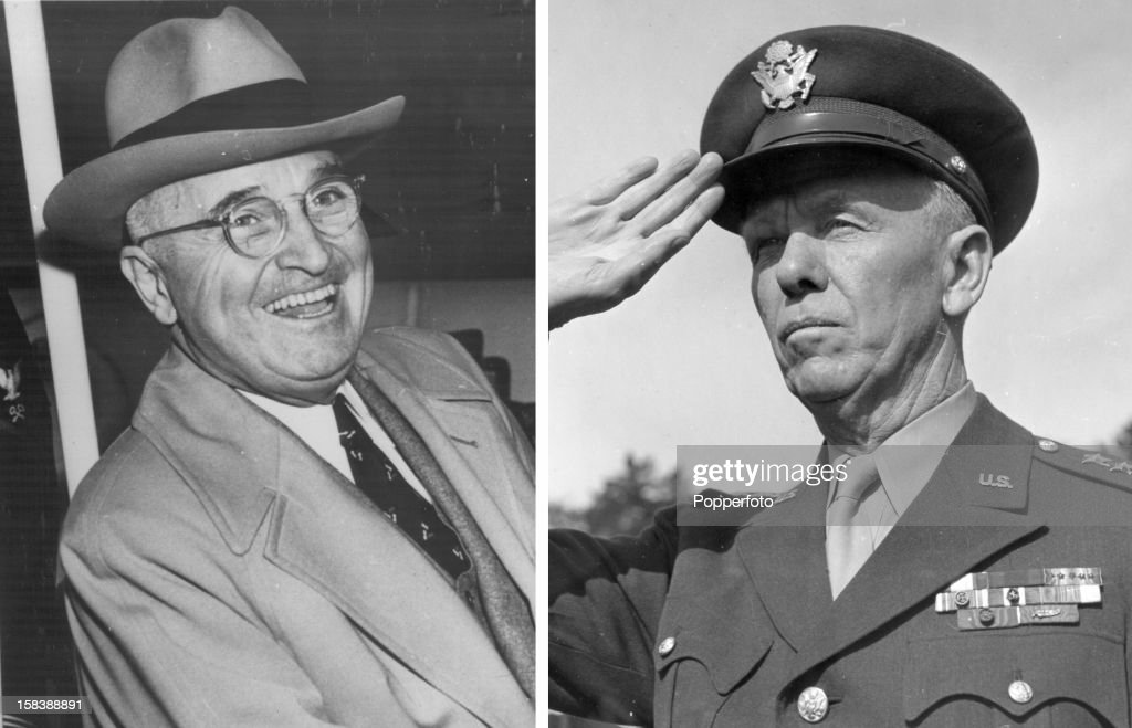 General <a gi-track='captionPersonalityLinkClicked' href=/galleries/search?phrase=George+Marshall+-+General&family=editorial&specificpeople=90946 ng-click='$event.stopPropagation()'>George Marshall</a>, (1880-1959) American Chief of Staff 1939-1945. salutes in 1942.