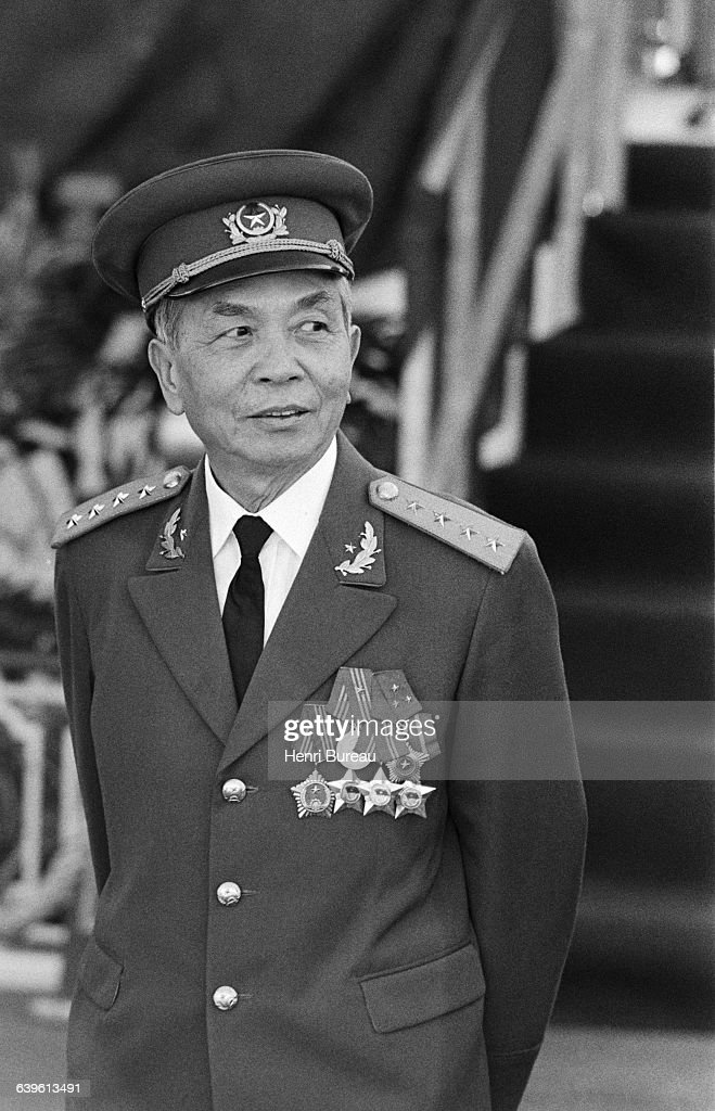 General Giap during a military parade in honor of the 25th anniversary of the Algerian Revolution.