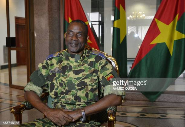 General Gilbert Diendere sits at the presidential palace in Ouagadougou on September 17 2015 after Burkina Faso's presidential guard declared a coup...