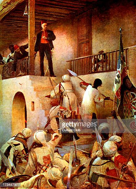 General Gordon's Last Stand after painting by George W Joy 1885 Gordon about to be attacked by warriors of the Mahdi in Khartoum Sudan GG British...
