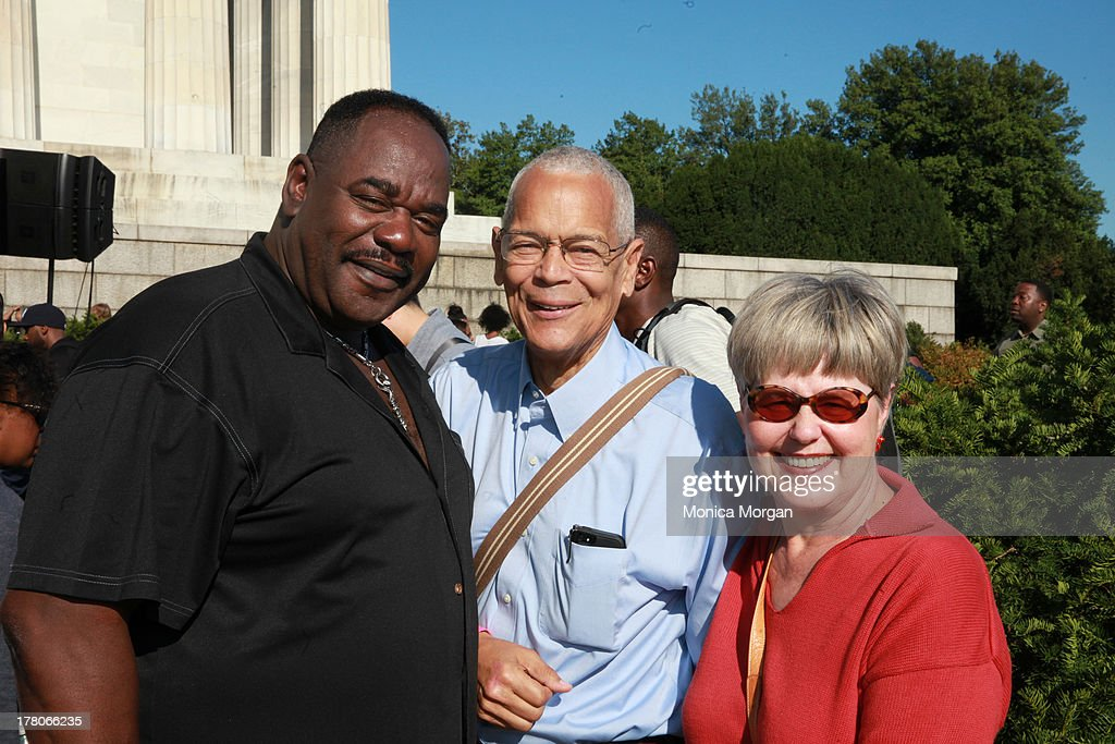 General Holiefield, <a gi-track='captionPersonalityLinkClicked' href=/galleries/search?phrase=Julian+Bond&family=editorial&specificpeople=221657 ng-click='$event.stopPropagation()'>Julian Bond</a> and Pamela S. Horowitz attends the 50th Anniversary Of Martin Luther King's March On Washington on August 24, 2013 in Washington, DC.