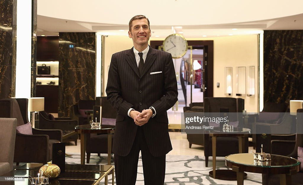 General Hotel Director Friedrich Niemann poses for photographers during the opening of Germany's first Waldorf Astoria hotel on January 3, 2013 in Berlin, Germany. The luxury Waldorf Astoria Berlin with its 232 luxury guest rooms and suites on 32 storeys is located near the Kaiser Wilhelm Memorial Church (Kaiser-Wilhelm-Gedächtniskirche).