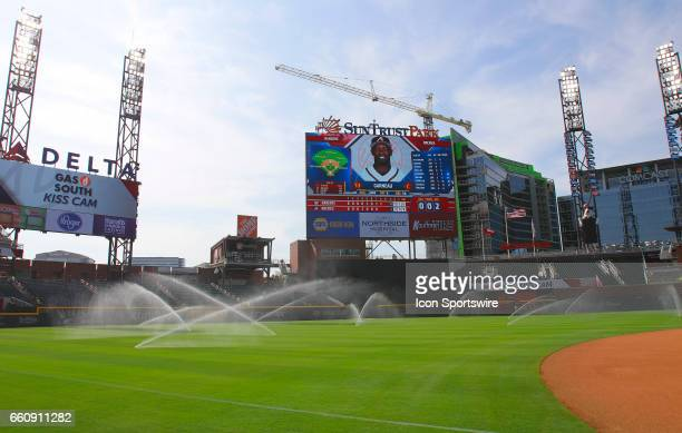 General image of the new SunTrust Park that is the new home of The Atlanta Braves on March 29 at SunTrust Park in Atlanta GA