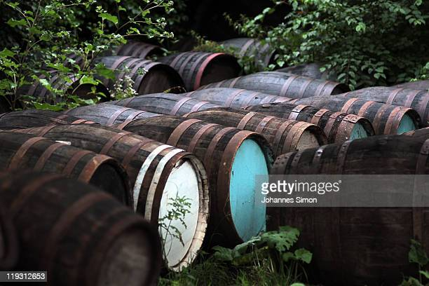 General impression of the outskirts of the Schmid barrel factory which delivers wooden barrels destined to hold beer at the upcoming Oktoberfest on...