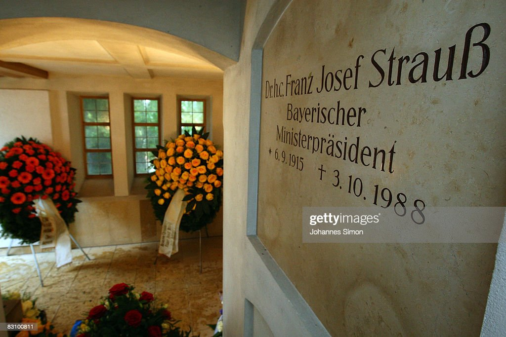 General inside view of the burial vault of former Bavarian state governor and head of the Christian Social Union FranzJosef Strauss seen on October 3...