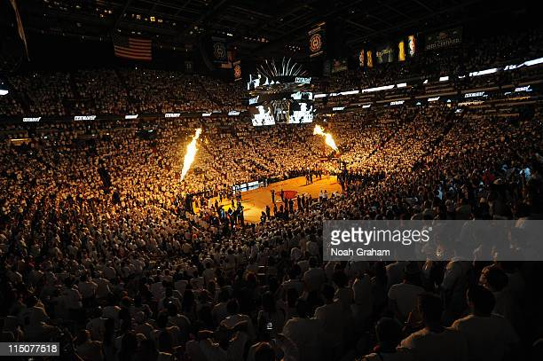 A general interior view of the Miami Heat against the Dallas Mavericks during Game Two of the 2011 NBA Finals on June 2 2011 at the American Airlines...