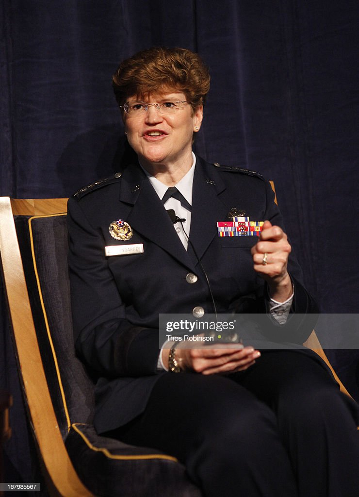 General Janet C. Wolfenbarger, commander, Air Force Material Command and medal of honor recipient attends the USO Woman Of The Year Luncheon at The Pierre Hotel on May 2, 2013 in New York City.