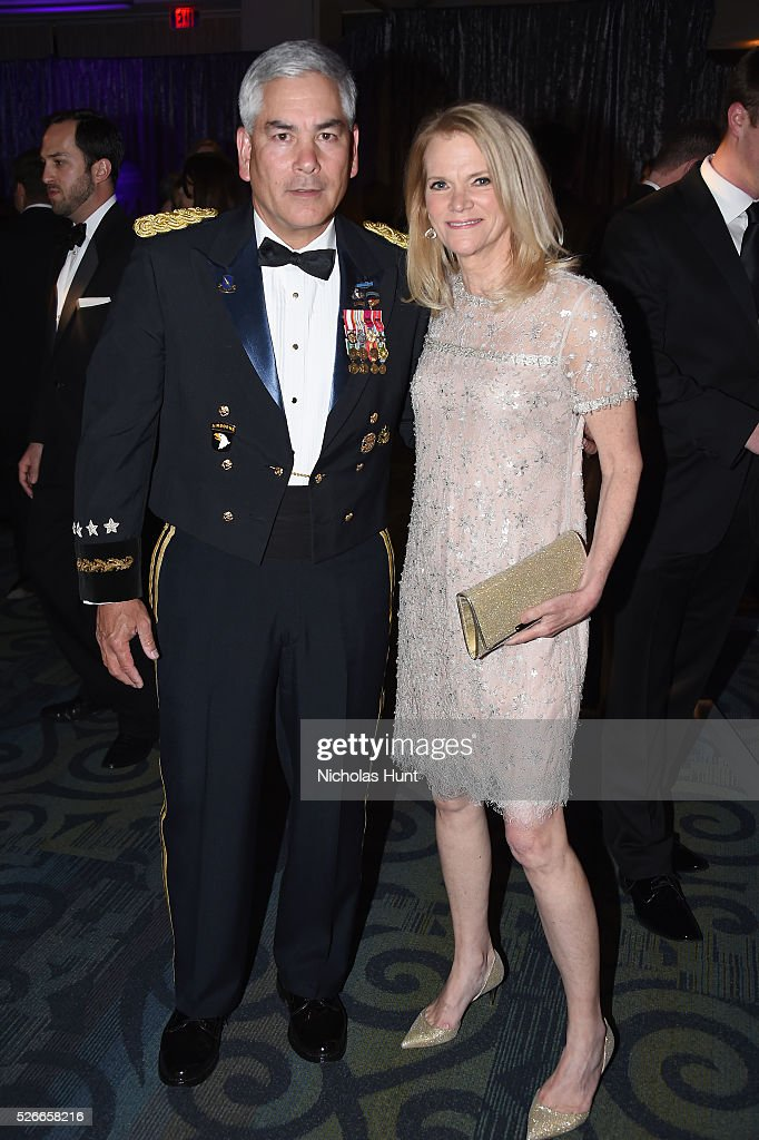 General John F. Campbell (L) and journalist Martha Raddatz attend the Yahoo News/ABC News White House Correspondents' Dinner Pre-Party at Washington Hilton on April 30, 2016 in Washington, DC.