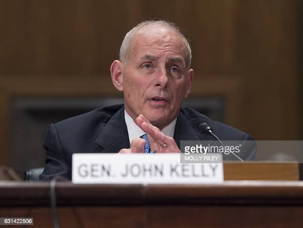 General John F Kelly USMC testifies at the Senate Homeland Security and Governmental Affairs Committee hearing on his nomination to be Secretary of...