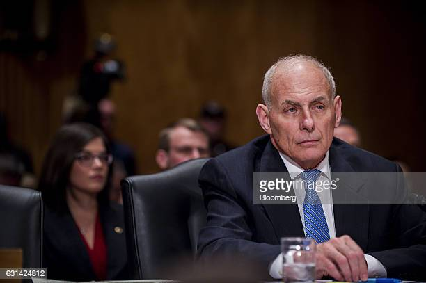 General John Kelly nominee for Department of Homeland Security secretary for Presidentelect Donald Trump testifies during a confirmation hearing...