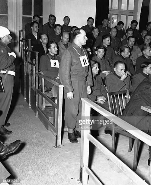 General Joseph 'Sepp' Dietrich of the SS is tried for war crimes in Dachau He and 42 other SS officers were convicted and sentenced to death for...