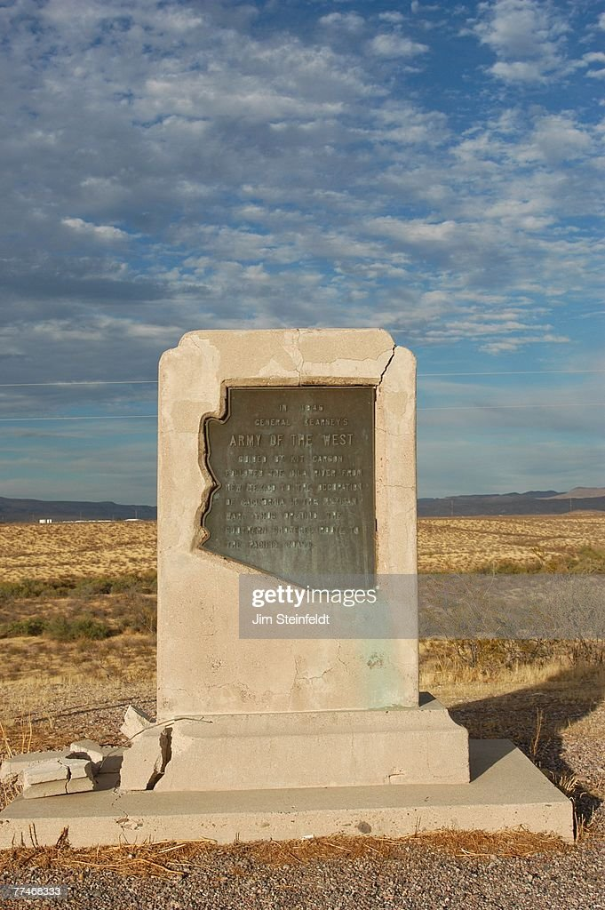 General Kearney Monument against a partly cloudy blue sky located east of Safford, Arizona on October 21, 2005.