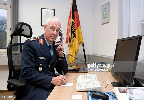 General Major Dr Ansgar Rieks chief of the German Military Aviation Authority in his office in Cologne Air Force barracks on January 08 2015 in...