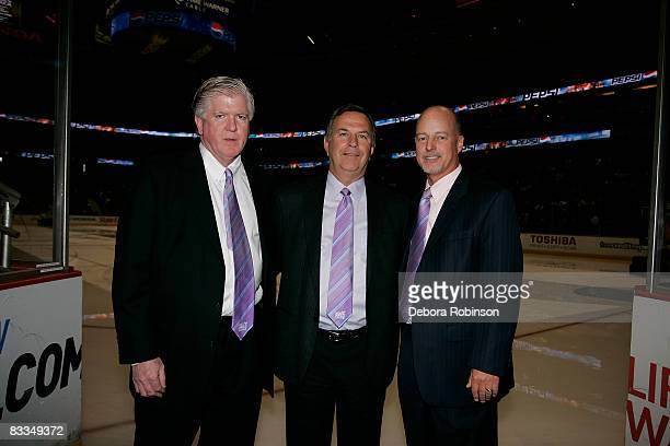 General Manager Brian Burke Chief Executive Officer Michael Schulman and Senior Vice President/Chief Marketing Officer Bob Wagner of the Anaheim...